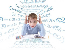 Picture of boy trying to understand what he is reading