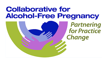 Collaborative for Alcohol-Free Pregnancy. Partnering for Practice Change Logo