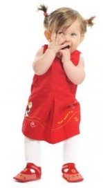 Photo: Toddler in red dress