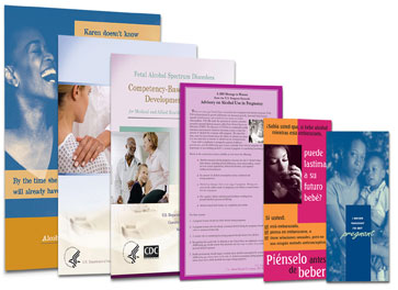 Collage of FASD free materials