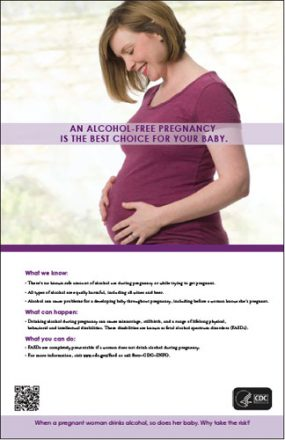 An Alcohol-Free Pregnancy is the Best Choice for Your Baby (woman looking down)