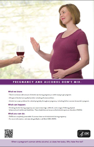 Poster-Pregnancy and Alcohol Don't Mix