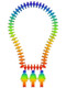 Rainbow colored lightbulb