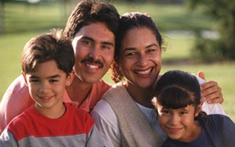 Photo of hispanic family