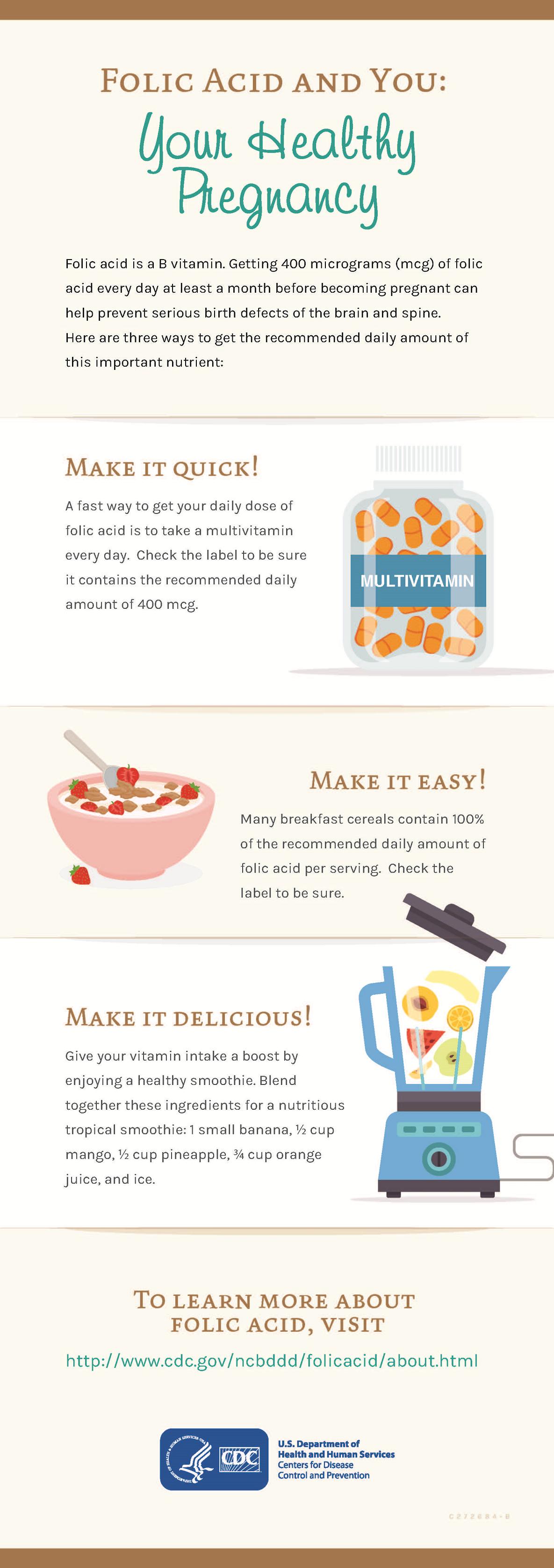 folic acid & you - your healthy pregnancy   cdc