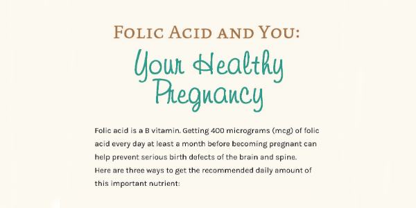 Folic Acid & You - Your Healthy Pregnancy | CDC