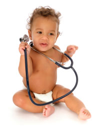 Photo: Baby with Stethoscope