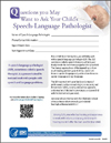 Image of speech pathologist brochure