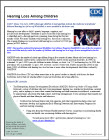 CDC's Hearing Loss Surveillance Activities Fact Sheet