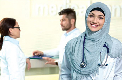Female muslin doctor