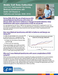 Hydroxyurea Use Among Medicaid Beneficiaries with Sickle Cell Disease in California and Georgia, 2006–2016
