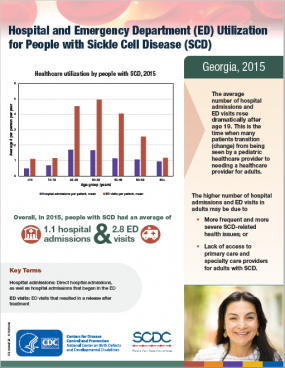 Sickle Cell Disease Emergency Room Use in Georgia Fact Sheet Thumbnail