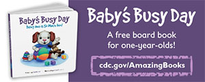 Baby's Busy Day English Web Banner