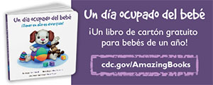 Baby's Busy Day Spanish Web Banner