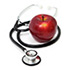 stethoscope and apple icon