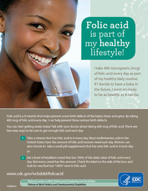 Folic Acid is part of my healthy life style.