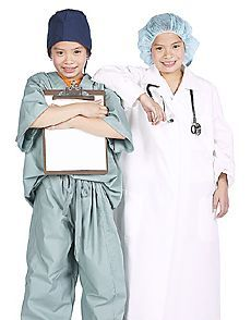 kids pretending to be physicians