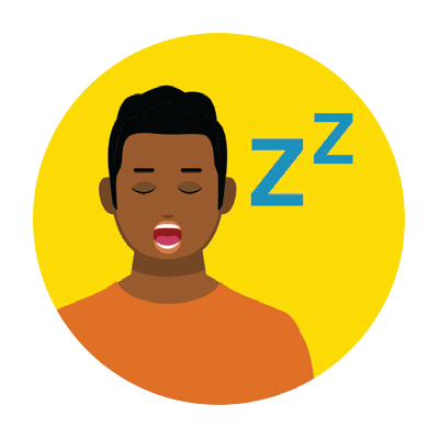 Illustration of a man feeling fatigued