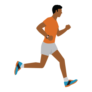 Illustration showing man running
