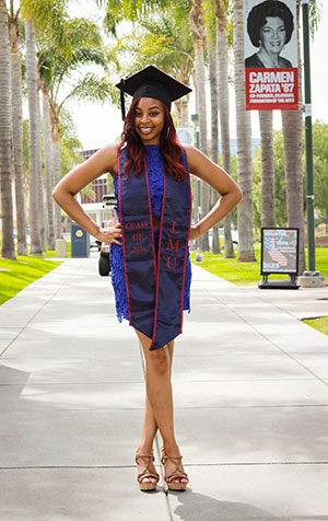 Mikeia Green in her graduation gown