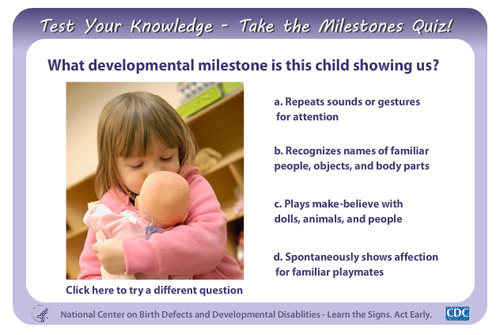 Widget - Child development quiz