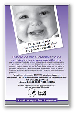 First tooth poster spanish