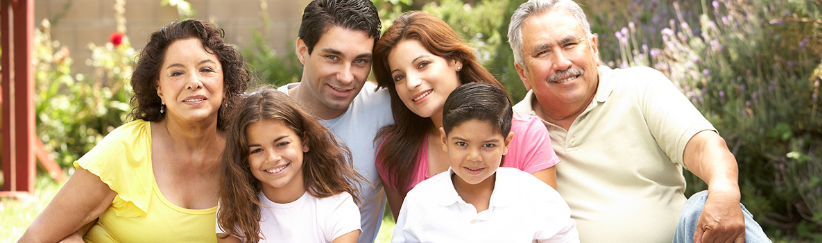 Multi-generation hispanic family