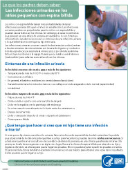 Spina Bifida UTI Fact Sheet - Spanish