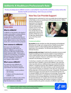 Image of PDF Factsheet - Stillbirth: A Healthcare Professional's Role