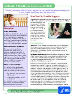 What is Stillbirth? | CDC