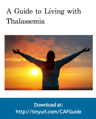 "Cover image of publication ""Guide to Living with Thalassemia"""