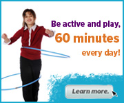 The Physical Activity Guidelines for Americans, issued by the U.S. Department of Health and Human Services, recommend that children and adolescents aged 6-17 years should have 60 minutes (1 hour) or more of physical activity each day.  Learn more at http://www.cdc.gov/healthyyouth/physicalactivity/guidelines.htm.