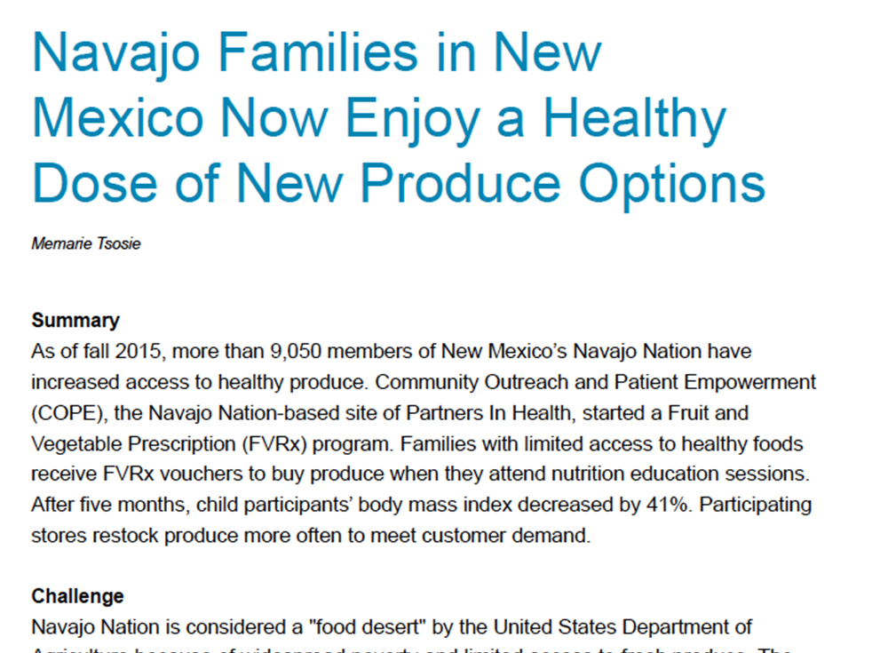New Mexico Navajo Nation Success Story