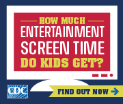 Screen time versus lean time. How much entertainment screen time do kids get?