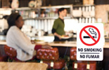 Photo of No Smoking sign at a restaurant