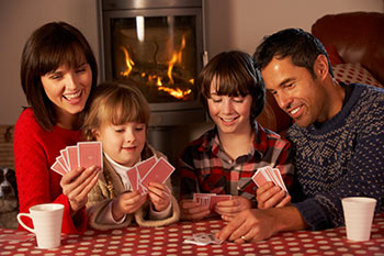 Family playing cards.