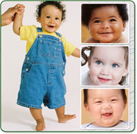Image montage of babies