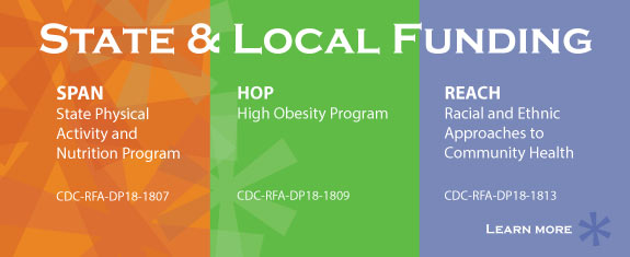State & Local Program Funding for State Physical Activity and Nutrition, High Obesity, and Racial and Ethnic Approaches to Community Health