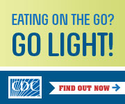 Go light when you grab a bite. Eating on the go? Go light!