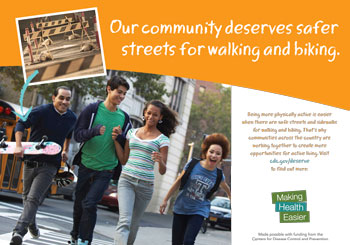 Our community deserves safer streets for walking and biking