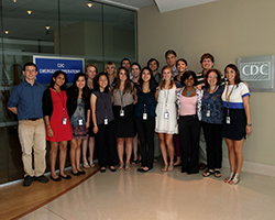 group of interns visiting the CDC