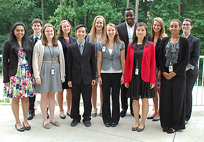 group photo of 2015 CLEH interns