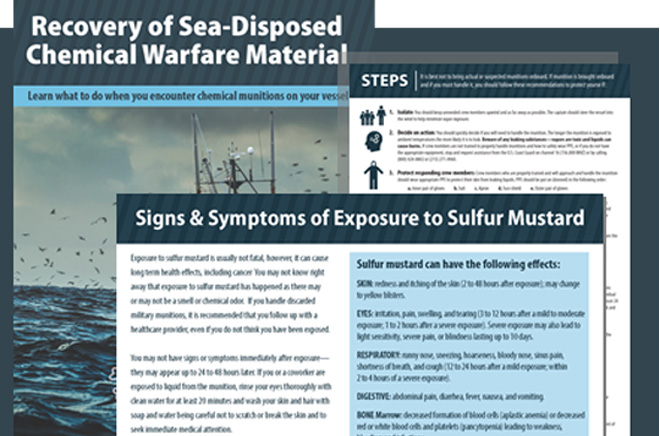 slider-graphic recovery of sea-disposed chemical warfare material