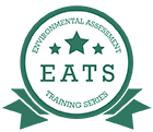 EATS logo is a circle with EATS in the middle and 3 stars
