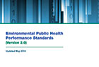Image of the cover of the Environmental Public Health Performance Standards (EnvPHPS)version 2