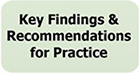 Graphic image: Key Findings & Recommendations for Practice