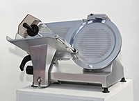 Photo of a clean deli slicer.