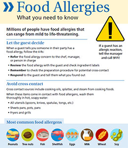 Food Allergy Fact Sheet from Rhode Island