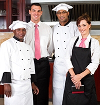 Group photo of kitchen staff.