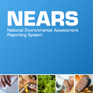 Cover image of NEARS with banner of food images at the bottom.